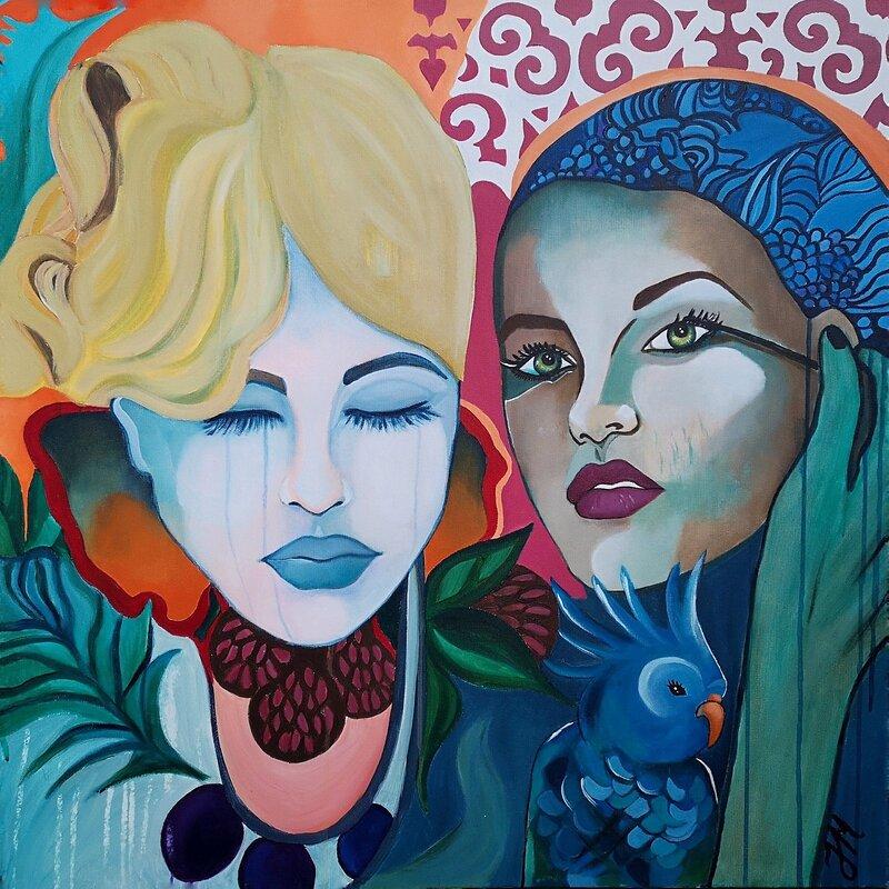 Akrylmålning Frozen Beauty, Julia Melander