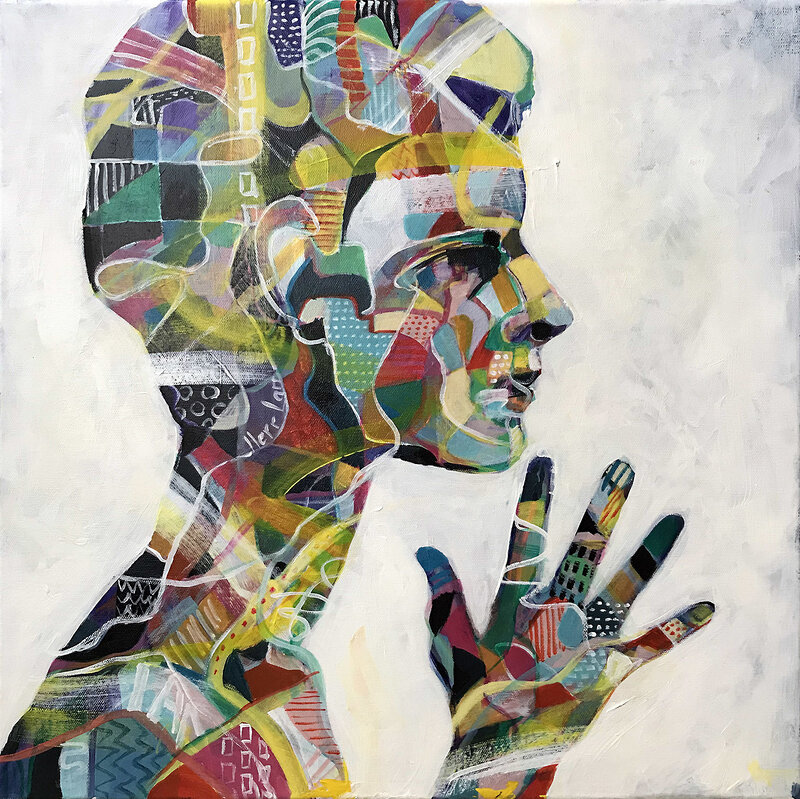 Akrylmålning Profile, Kicki Edgren