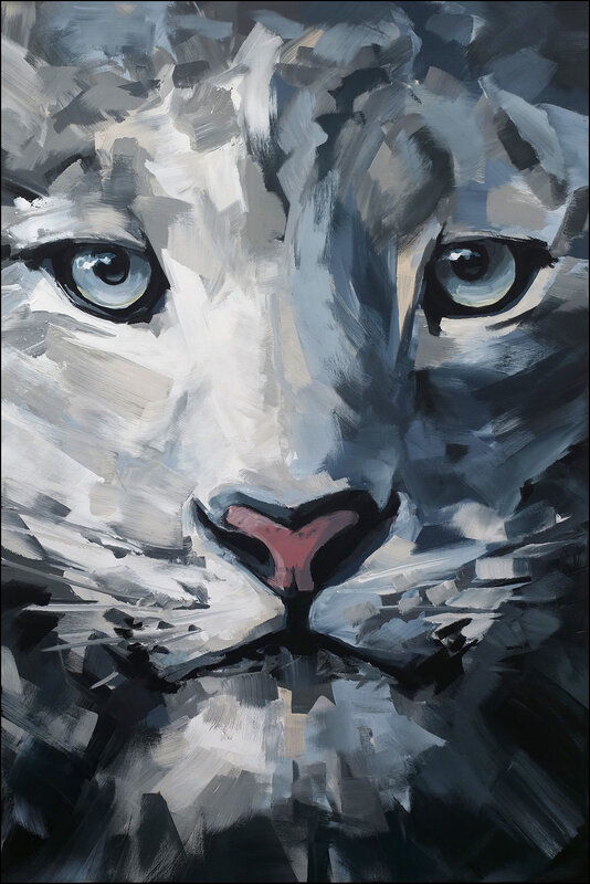 Abstract Snow leopard no.m2002