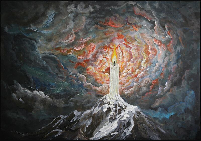 Akrylmålning The light still shine, John Eriksson