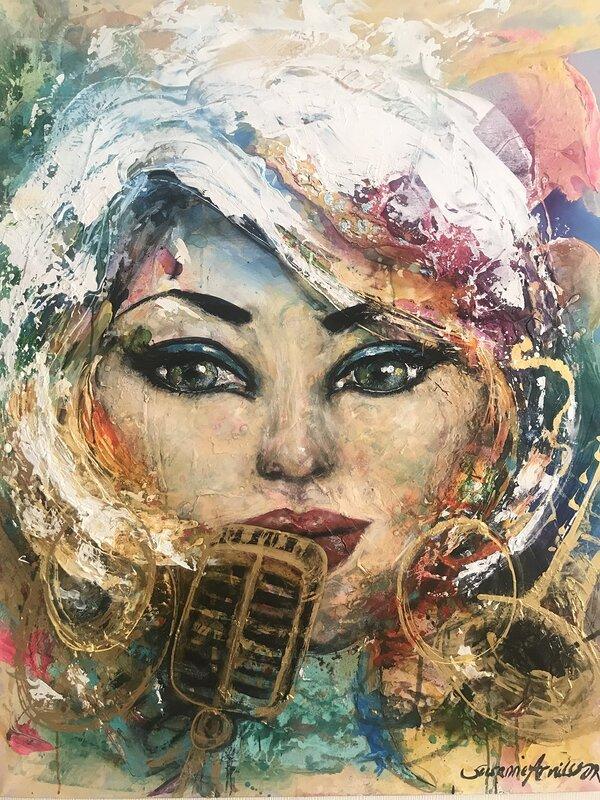 Akrylmålning Soundtrack, Susanne Arvidsson