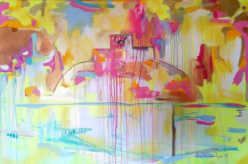 Akrylmålning Marstrand, Linda Sandgren