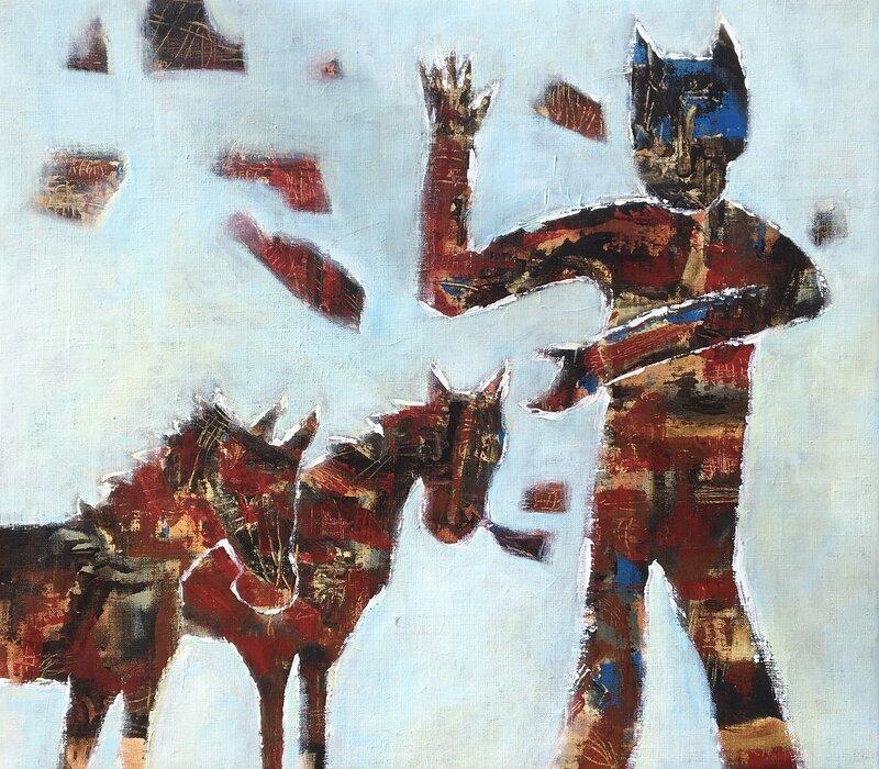 Akrylmålning From my point of view, Li Gessbo