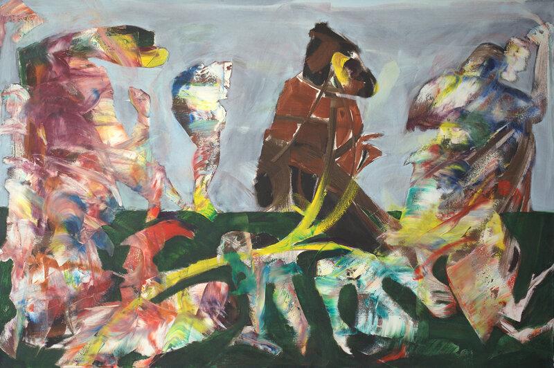 Oljemålning Untitled, Bogdan Murg-Perlmutter