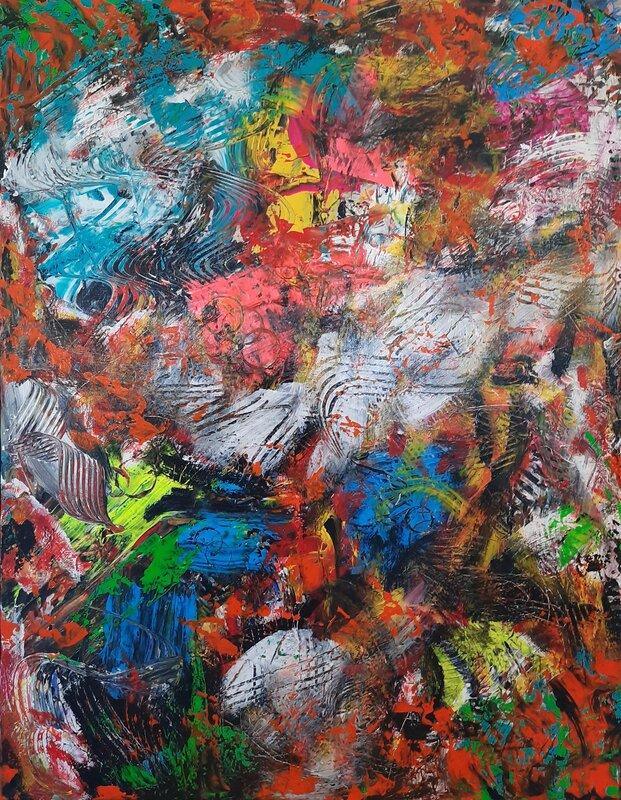 Akrylmålning Nr 262, Parallel universe, Fredrik Bülow