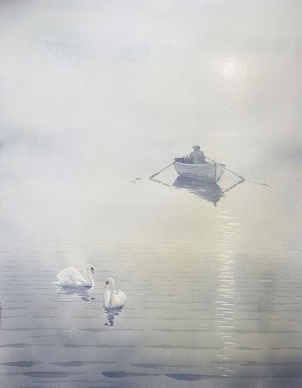 Akvarell Fiskegubbe3, Bo Hoflin