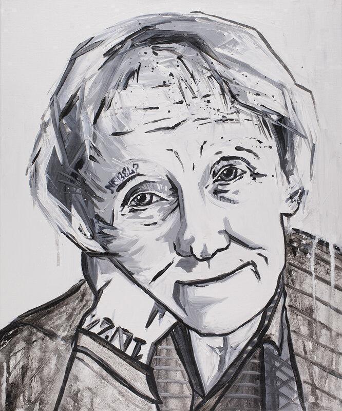 Akrylmålning Astrid, Erik Hjorth