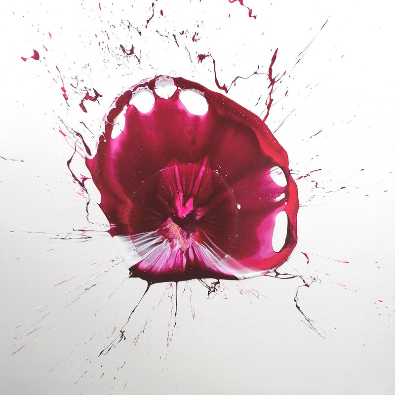 Akrylmålning Hey Rosa, nice to see you!, Carina Bromark