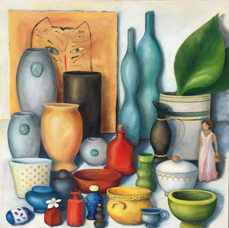 Oljemålning Min samling som jag önskar att jag hade...., Anne-Marie Björstrand