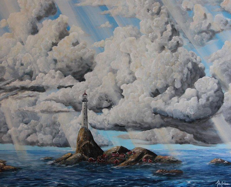 Akrylmålning Den lilla ön, John Eriksson
