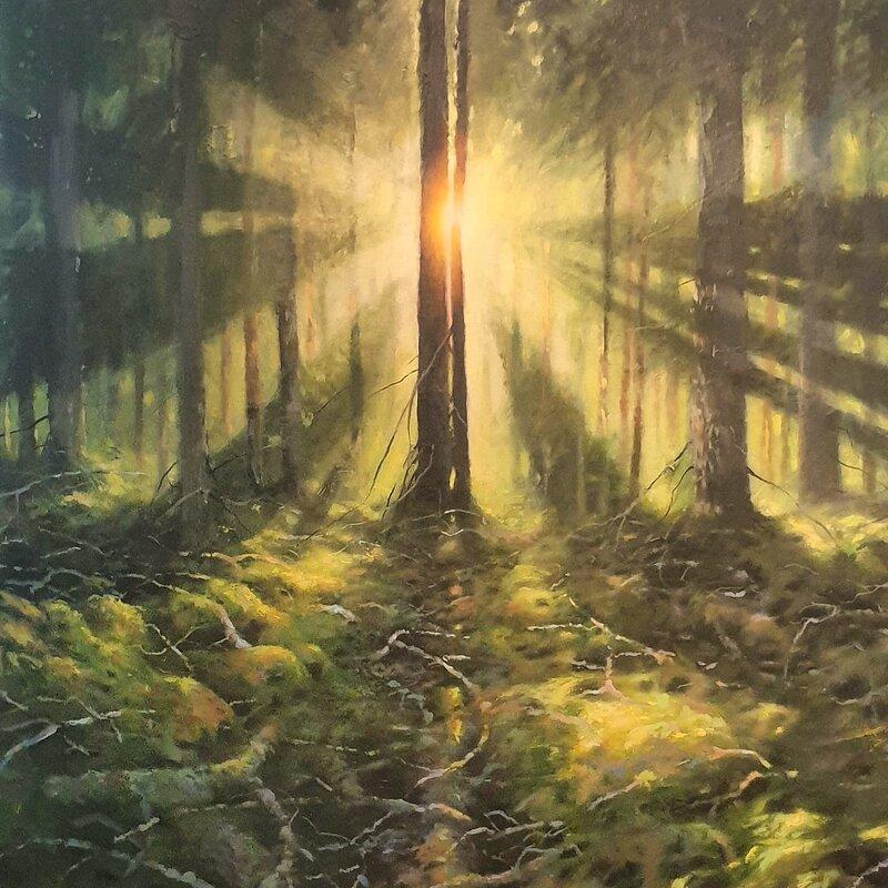 Akrylmålning Free happiness, Mathias Kärnlund
