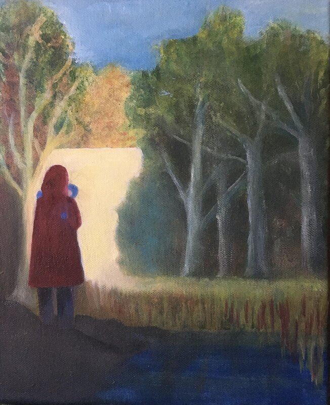 Oljemålning Saknad, Berit Badman
