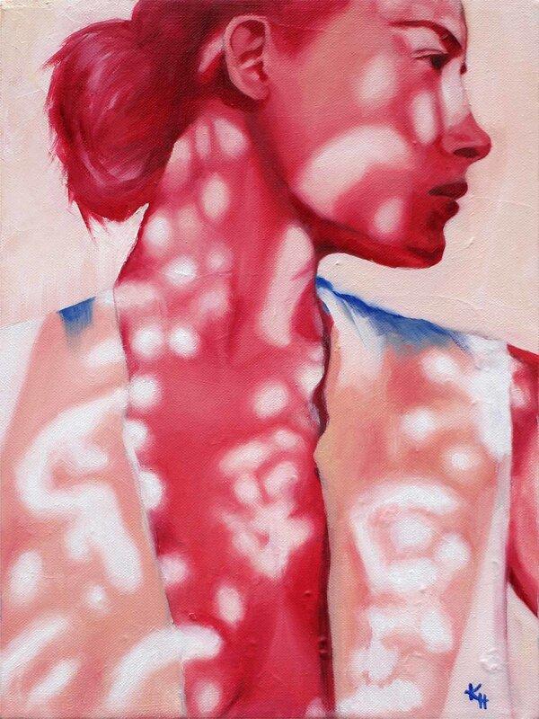 Oljemålning In the shade, Kirsi Hallberg