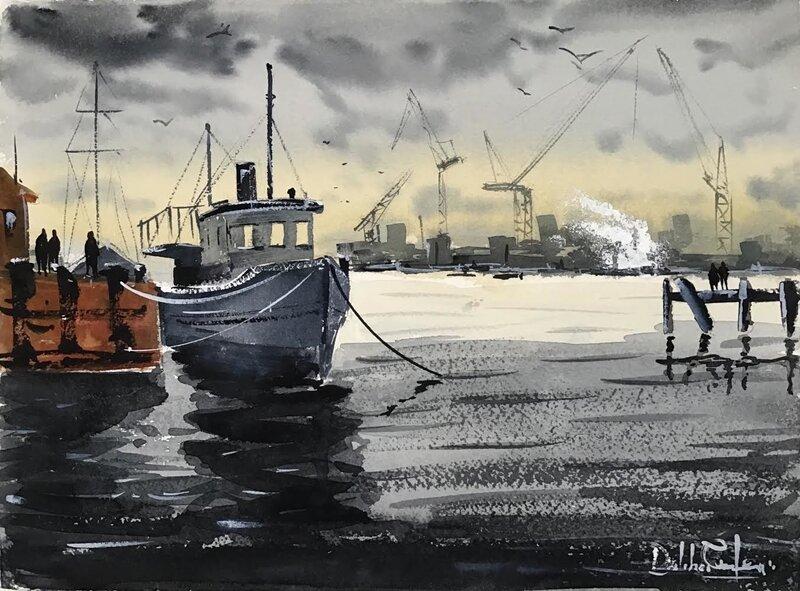Akvarell Drömmarnas kaj, Dalibor Eminefendic