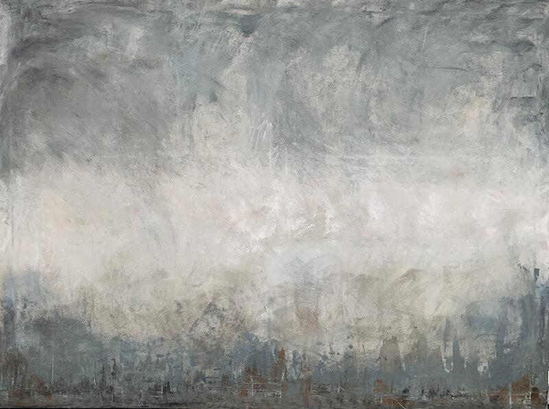 Akrylmålning Another world, Malin Lidén