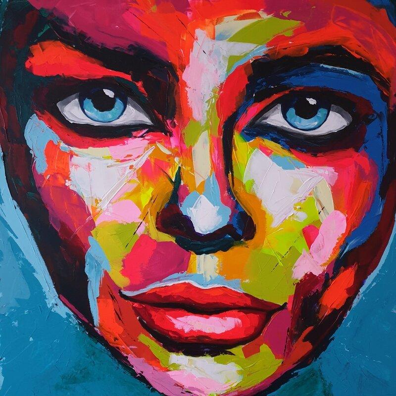 Akrylmålning Fiona, Mia Färm