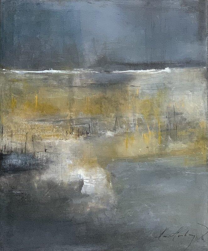 Akrylmålning In i vassen, Maria Hamberg