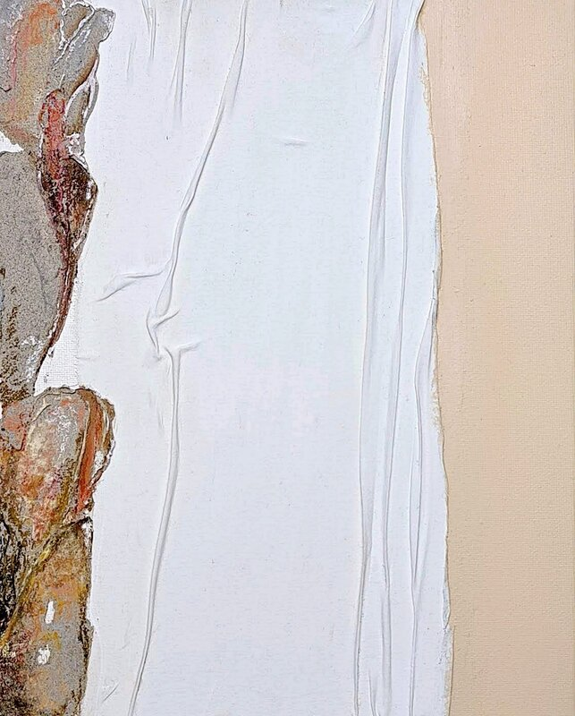 """""""TWIN No.II"""" unframed, Aliya Rabbani"""
