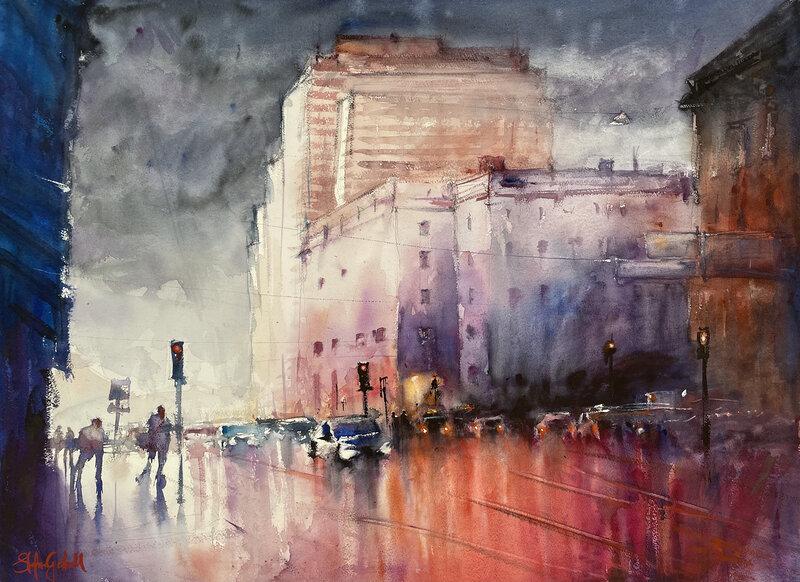 Akvarell Konserthuset, Stefan Gadnell