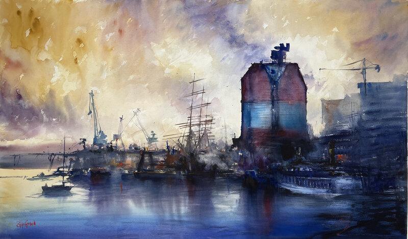 Akvarell Göteborg, Stefan Gadnell