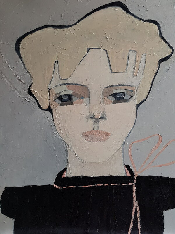 Oljemålning Betty, Cecilia Ciscar