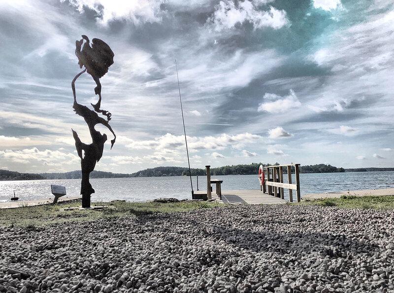 Utomhus skulptur Järnflickan, Tomas Lacke