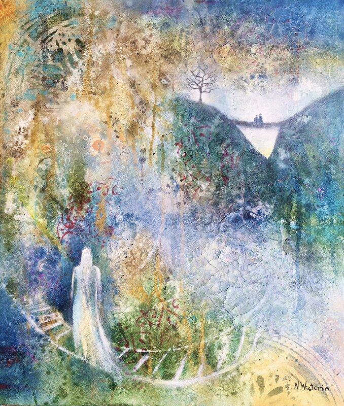 Akrylmålning Going Home, Nina Wictorin