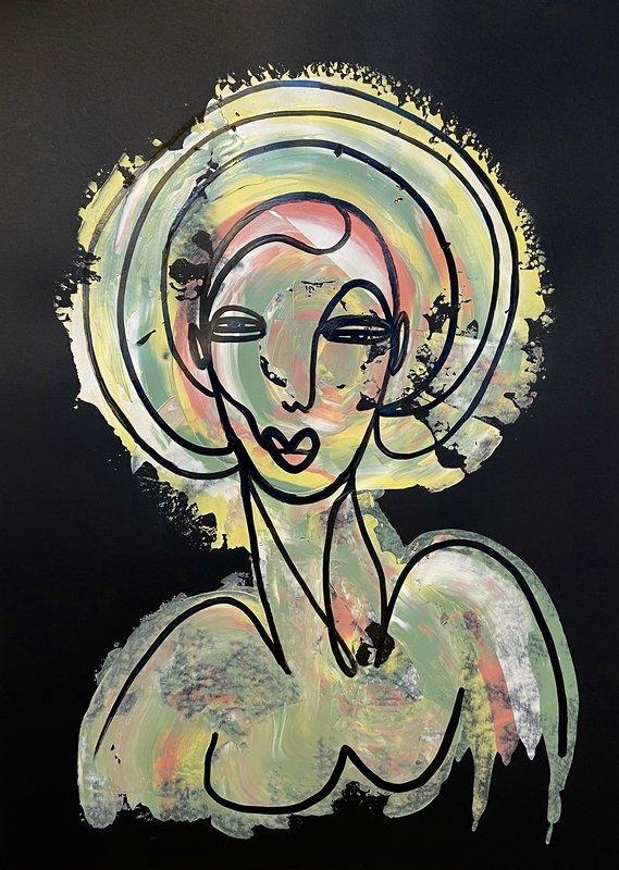 Akrylmålning Can I be your Sunshine, Susanne Cederlund