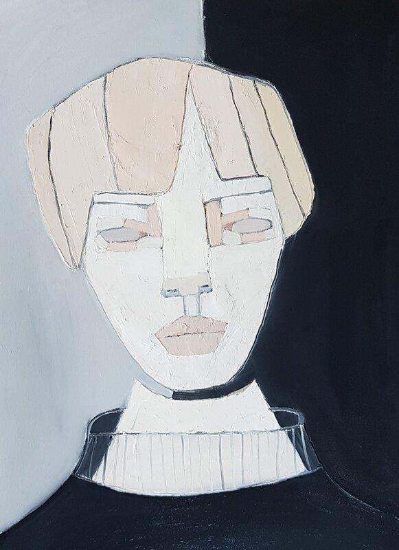 Oljemålning Tomboy, Cecilia Ciscar
