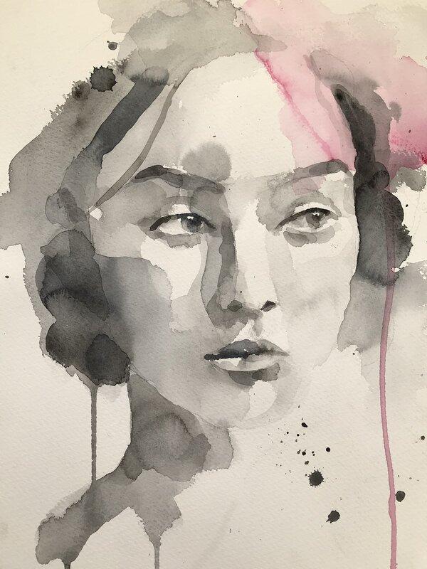 Akvarell Beside you, Mona Markinhuhta