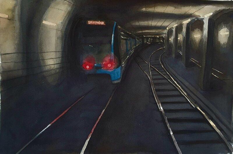 Akvarell Tunnelbana, Isak Hellström