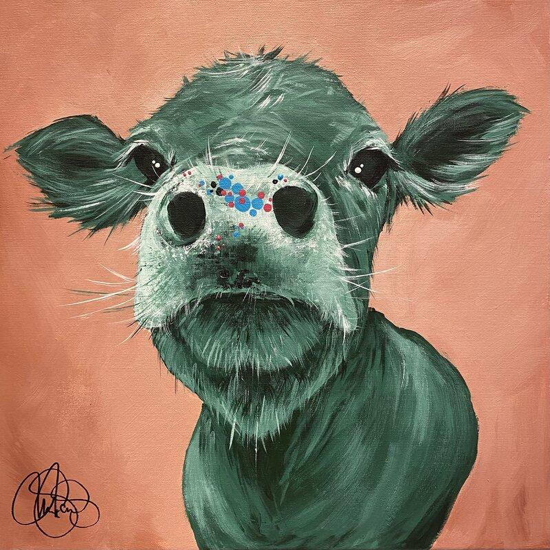 Akrylmålning COW 277 DISA, Matilda Skoglund