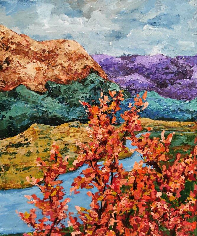 Akrylmålning In Helmer Vibes, Paula Rindborg