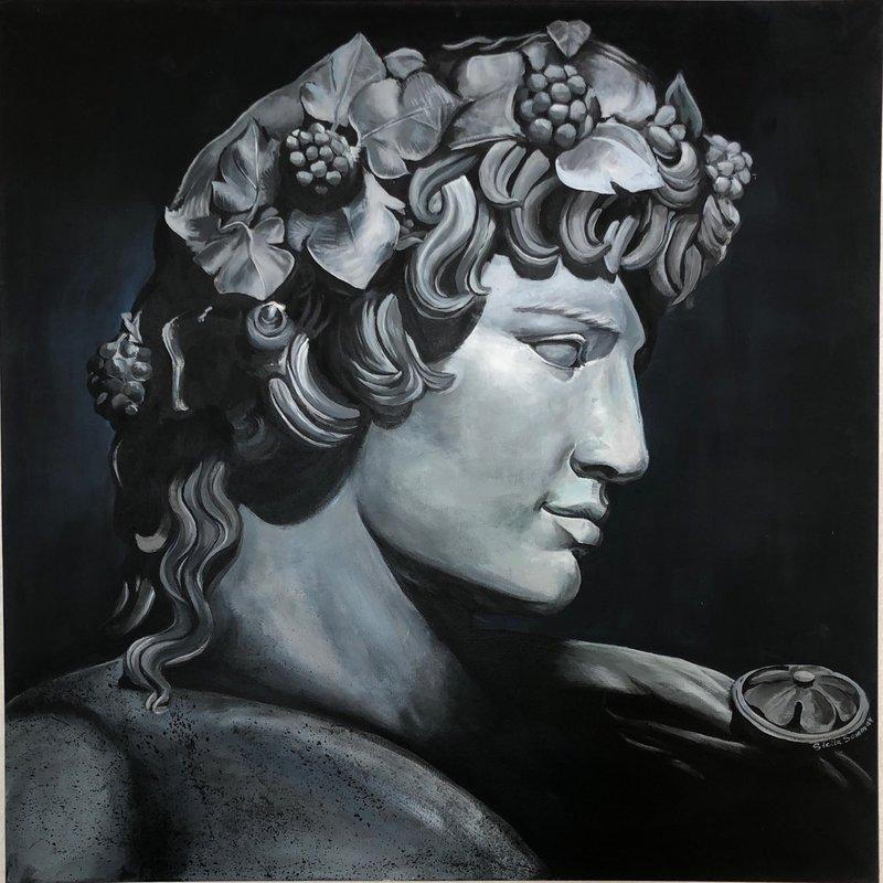Akrylmålning My beau Dionysus, Stella Sommar