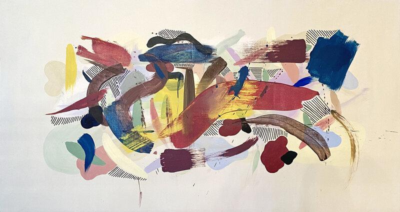 Akrylmålning Blast 7, Fredrika Du Rietz
