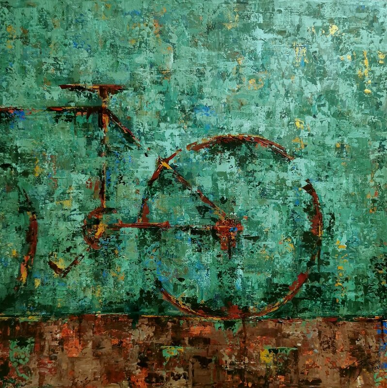 Akrylmålning Cykel XVIII, Paula Rindborg
