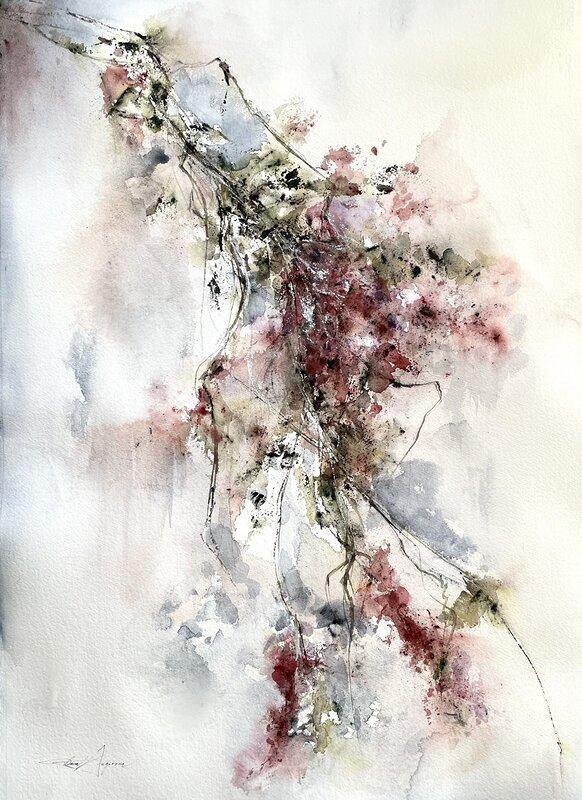 Akvarell Caressing air, Dana Ingesson