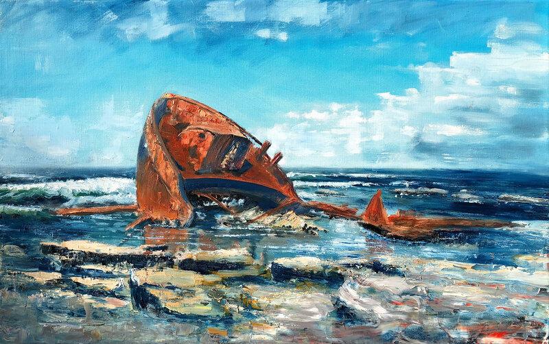 Oljemålning Fortuna av Rhadermoor, Jonas Melcherson