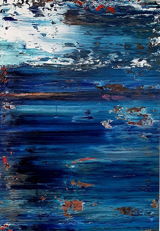 Akrylmålning Fragments of Paradise II, Tobias Staaf
