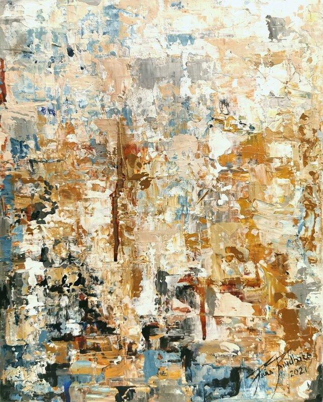 Akrylmålning Abstract Series nr. 4, Paula Rindborg