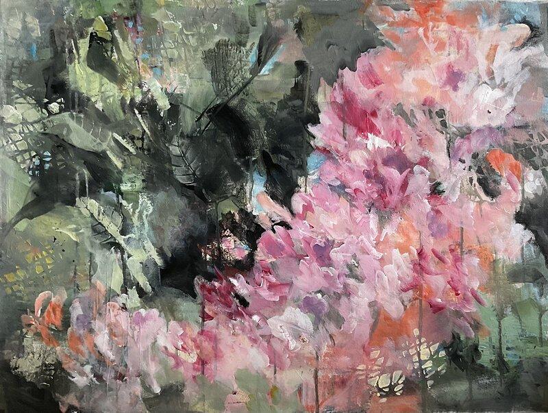 Akrylmålning Glimten av sommar, Sirpa Tiderman