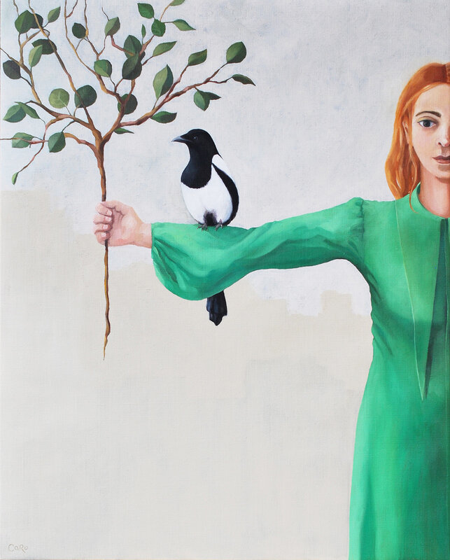 Oljemålning Naturlig, Caroline Roberts