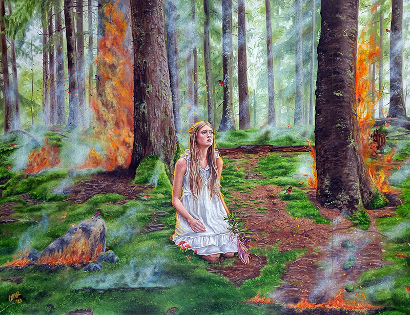 Oljemålning From the Ashes, Christina Ridgeway