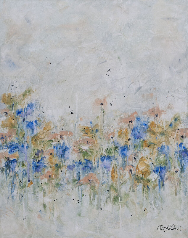Akrylmålning Sommarminnen, Maria Nahlin