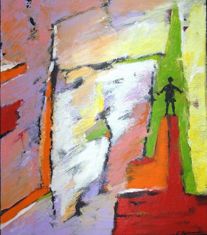 Akrylmålning På toppen, Eva Friskman