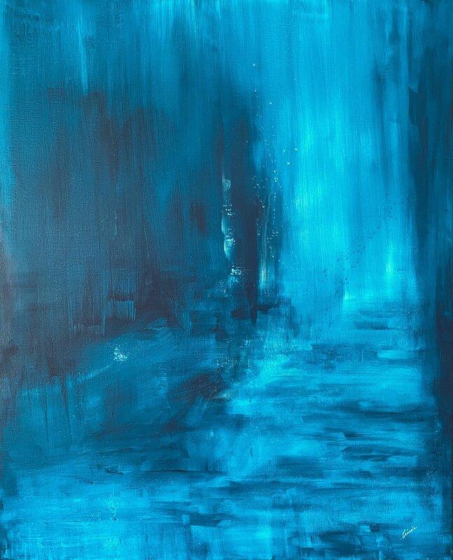 Akrylmålning Blå I, Linda Lundin