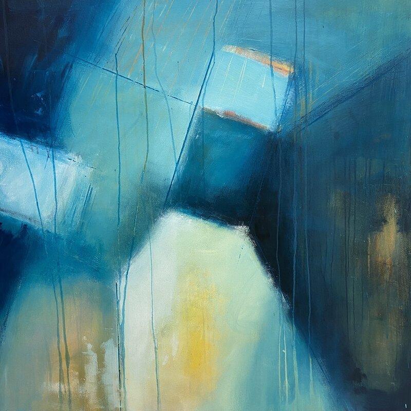 Akrylmålning Bright lights, big city I, Catharina Bauer
