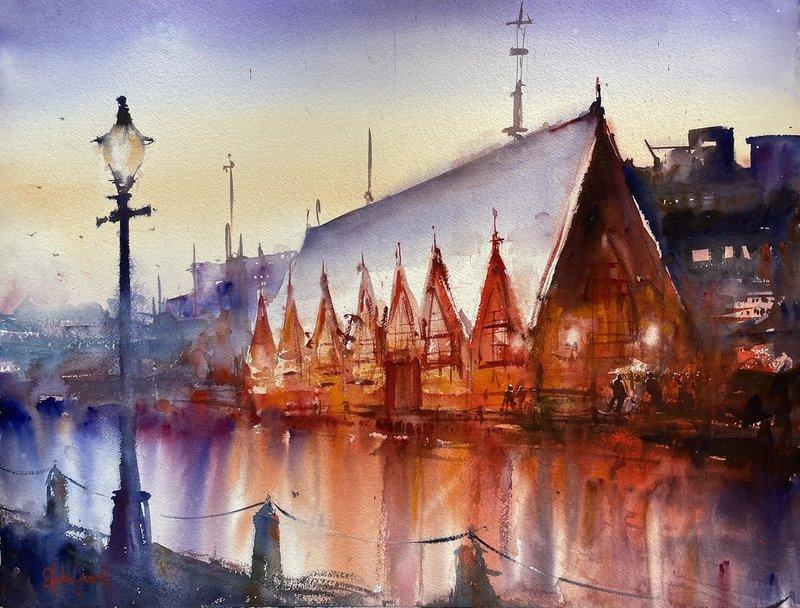 Akvarell Feskekörka, Stefan Gadnell