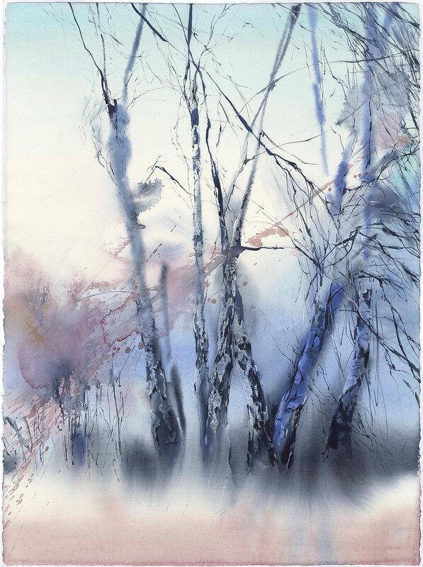 Akvarell I skogen. 1.  (En av triptiken), Olga Sternyk