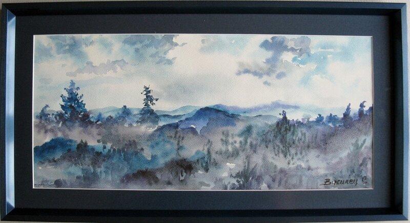 Blått landskap
